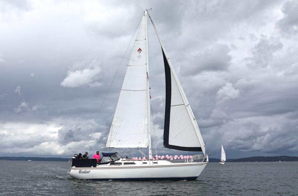 S/V Shadow at 2021 Tacoma Pink Boat Regatta