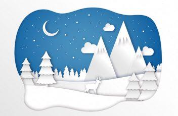 landscape-winter-paper-style