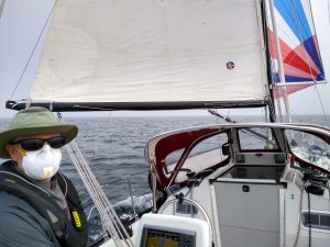 Commodore Mallory at Helm in Smoke
